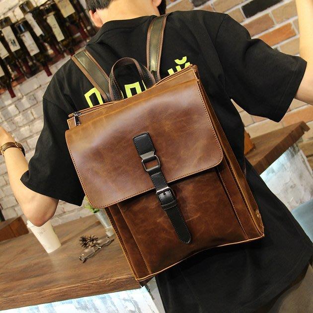 FINDSENSE 韓國男包 G6 男用休閒包 雙肩包男士時尚潮流背包書包休閒電腦包大容量後背包旅行包出差旅遊公事包