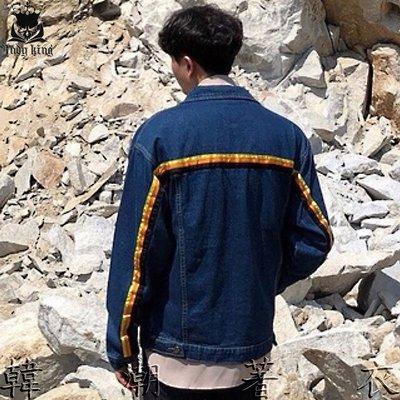 ETCMARKET韓國GABABA空運 側線條設計 牛仔夾克外套 韓貨韓製 東大門正韓男裝 HIGH CUTA 韓潮著衣
