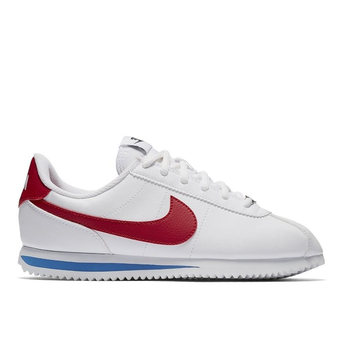 【A-KAY0】NIKE 女 CORTEZ BASIC SL GS WHITE 皮革 鐵牌白紅藍【904764-103】