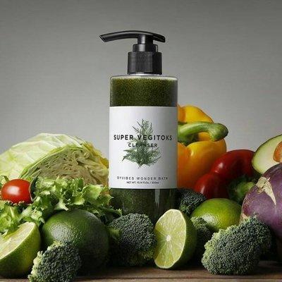韓國WB Wonder Bath 蔬果卸妝洗面乳(蔬果綠茶三合一洗面乳、泡泡淨化潔顏發光面膜)300ml