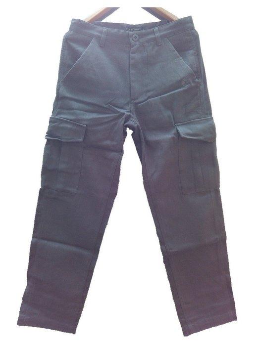 潮人著用款 雙側大口袋工作褲 休閒長褲 素面灰色 G-Dragon 陳冠希 余文樂 職人 潮人著用款