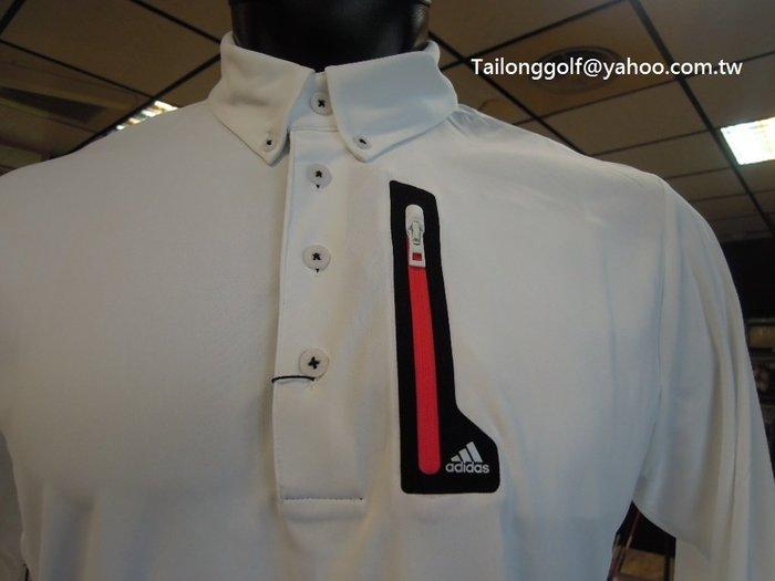 全新 adidas Golf 高爾夫長袖POLO衫 休閒時尚 SLIM FIT專利布料科技