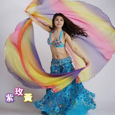 【優作坊】SJ010_混色雙紗巾、肚皮舞手紗巾、舞蹈表演、雙紗舞