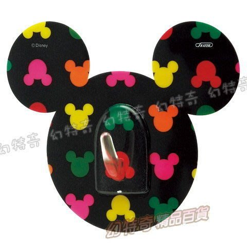 現貨出清特價👍日本進口迪士尼米奇造型超薄掛勾(黑彩)205187【玩之內】正品