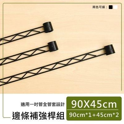 *鐵架小舖*【 類】90x45公分烤黑全套管 邊條組 補強桿 圍籬