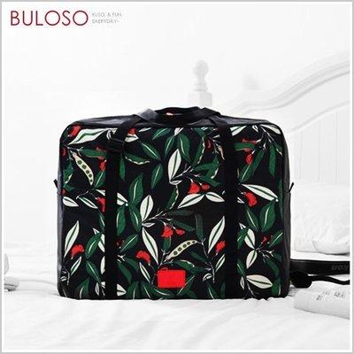 《不囉唆》可折疊手提旅行行李-花之夜 整理包/手提袋/收納包/衣物行李袋(不挑色/款)【A422944】