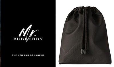 專櫃滿額禮burberry 格纹束口袋 化妝包 盥洗包 過夜包 旅行收納包 可装PAD(BBS28)