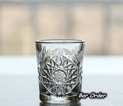 Bar Order~美國 精緻古典花紋SHO杯 無鉛玻璃一口杯 60ml 超