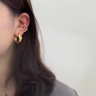 Diamond circle鑽圈耳骨夾 耳窩夾 耳廓夾 Simple Modern [正韓] 韓國連線 【NN245】