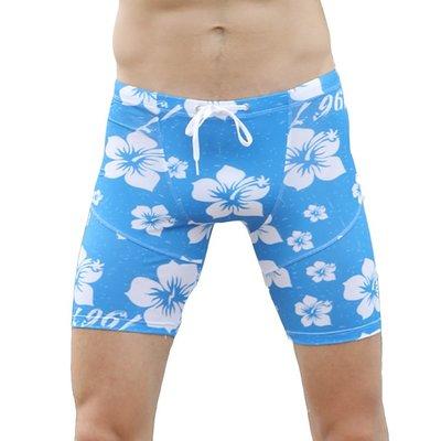 【促銷】男士5分泳褲沙灘沖浪緊身健身褲運動 齊膝泳褲長泳褲
