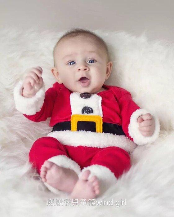 聖誕節 聖誕老公公長袖套裝寶寶造型嬰兒衣服裝 寶 現貨--崴崴安兒童館