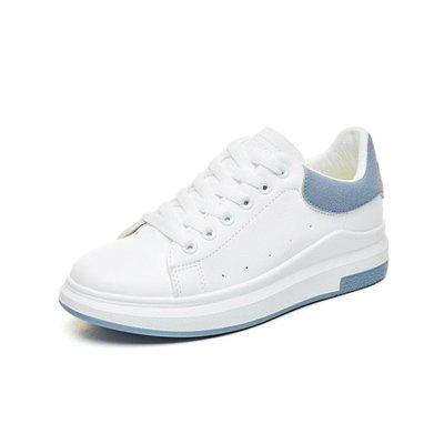 現貨/小白鞋女新款百搭韓版學生厚底街拍清新chic繫帶皮面板鞋/海淘吧F56LO 促銷價
