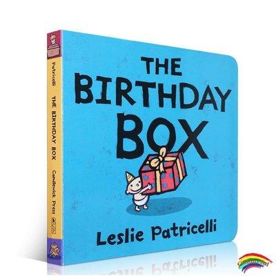 進口英文原版正版The Birthday Box生日禮物Leslie Patricelli啟蒙紙板書繪本board books培養寶寶的行為習慣英語學習0-3-
