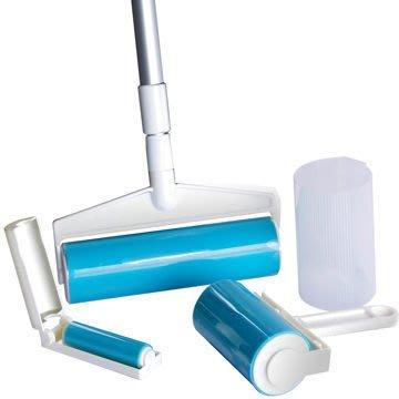 輕鬆黏水洗式黏毛除塵滾筒三件式~可重覆使用