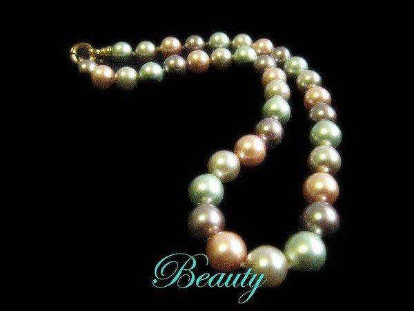 *Beauty*彩色貝珠短項鍊