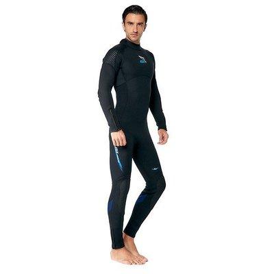 台灣潛水--- IST 連身長袖長褲防寒衣(3mm男女)  WS80