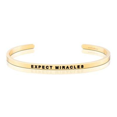 MANTRABAND 美國悄悄話手環 EXPECT MIRACLES 生命充滿奇蹟 金色手環