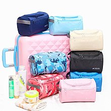 Color_me【N237】雙空間便攜收納包 旅行 洗漱 防水 戶外 出差 大容量 化妝包 居家 商務