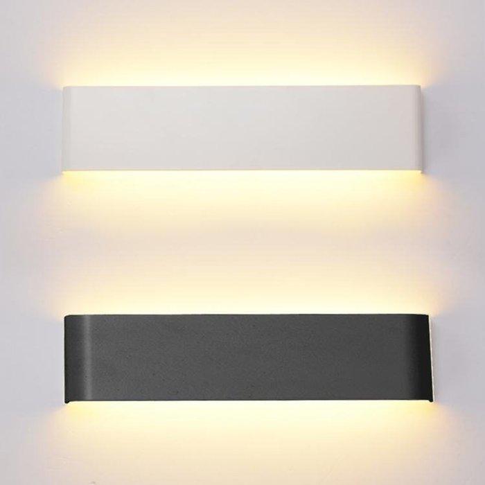 簡約現代LED臥室床頭鏡前走廊過道玄關壁燈長方形客廳墻面背景燈