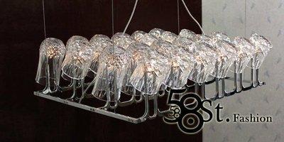 【58街-高雄館】義大利設計師款式「Dono pendant lamp - 24 light水晶玻璃吊燈」。複刻版。GH-223
