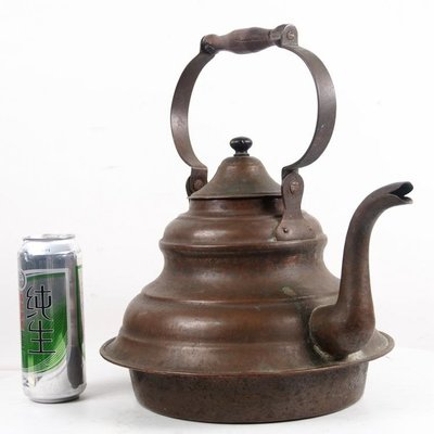 百寶軒 19世紀晚期西洋古董歐式銅器紫銅銅壺燒水水壺大號銅壺8品 ZG1816