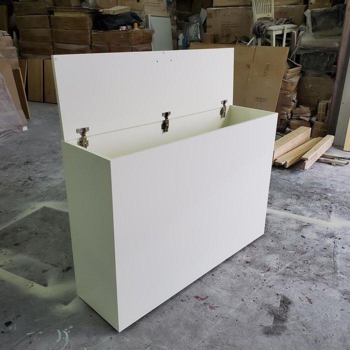 美生活館 客訂 床頭收納箱 上掀式 壁樑櫃 閃樑櫃 訂尺寸寬120 深35 高85 公分, 上掀單門, 象牙白色
