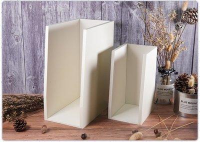 白色木器-大小文件夾一組~蝶古巴特拼貼 餐巾紙 彩繪 黏土DIY美勞手作材料