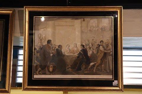 【卡卡頌 OMG歐洲跳蚤市場 / 西洋古董 】歐洲古董聖經耶穌藝術印刷掛畫 pa0093