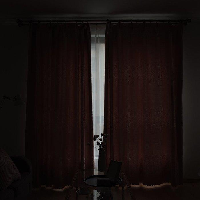 創意 居家裝飾 歐式窗簾成品客廳臥室定制落地窗簡約現代窗簾遮光布隔熱全遮光