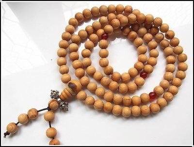 【雅之賞|藏傳|佛教文物】特賣* 太行山千年崖柏 高密高油同料(8mm)108顆佛珠~012555