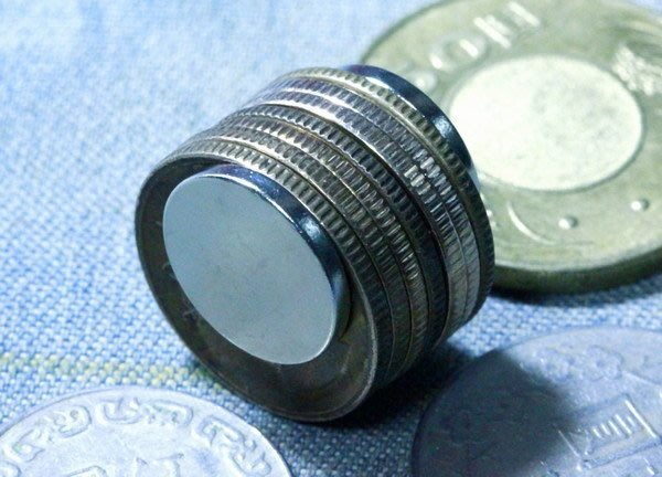 @萬磁王@釹鐵硼強力磁鐵-圓形硬幣磁鐵15mmx2mm-你絕對沒用過磁力這麼強的