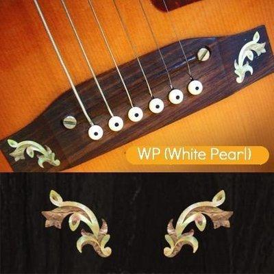 園之屋 現貨 日本 Inlay sticker 灰白色 巴洛克花 另有藍白色 琴橋貼紙  可選購 民謠吉他用