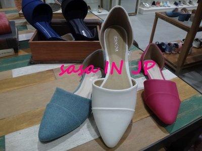 sasa IN JP35日本連線 RANDA新款^^ 歐美款^^五色素素尖頭鞋 LL 白色賣場