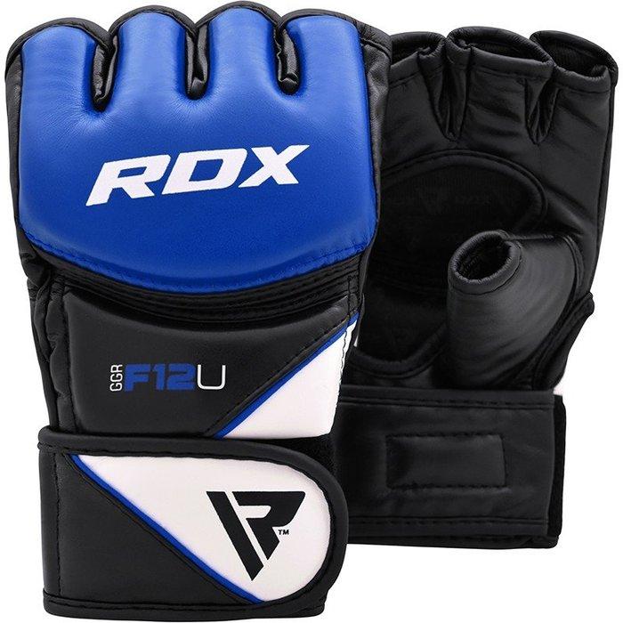 【神拳阿凱】RDX 英國 GGR-F12U 格鬥 露指手套 MMA 藍黑(免運)