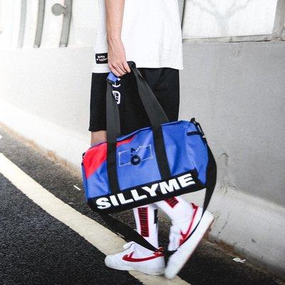 【洛本】小運動包女健身單肩背包輕便男短途出差旅行手提行李袋旅游斜挎包