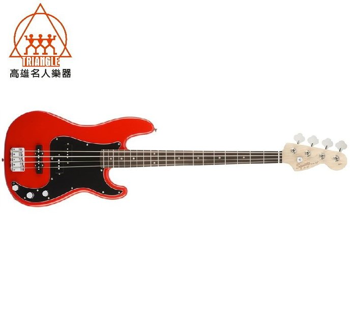 【名人樂器】2018 Squier AFFINITY SERIES PRECISION BASS 電貝斯 黑/白/紅