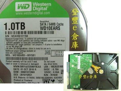 【登豐e倉庫】 F111 WD10EARS-00Y5B1 1TB SATA2 救資料 停電損壞 主機冒煙
