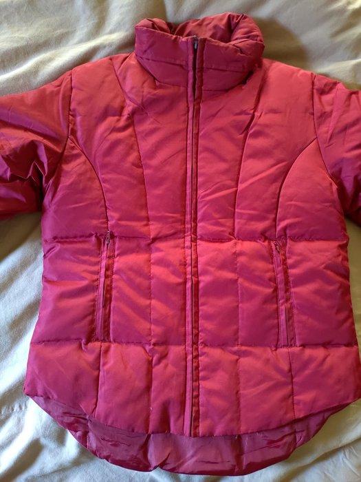 ~櫻花雨~ DKNY 紅色 腰身款 羽絨外套  XS號 夾克 賞雪 滑雪