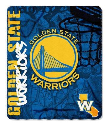 [現貨]美國職業籃球蓋毯 裝飾毯NBA金州勇士Golden State Warriors舊貨風 地墊車毯午睡宿舍生日禮品