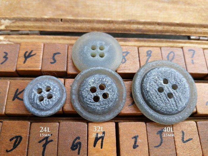 DAda緞帶‧I71200-仿自然石頭紋.灰色4孔鈕扣(自選)$20手作自然風【意大利進口】
