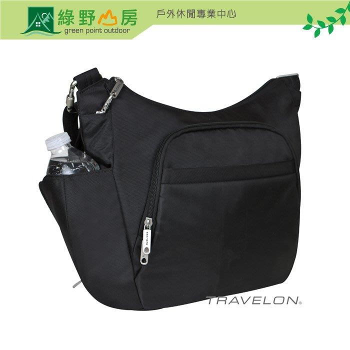 綠野山房》Travelon 美國 RFID 防盜經典側背包 斜背包 防搶 出國 旅遊 黑色 TL-42757