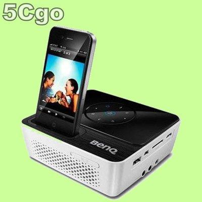 5Cgo【代購】BENQ GP2 IPHONE/IPOD投影機200流明最大可160吋HDMI VGA另購鋰電池盒 含稅