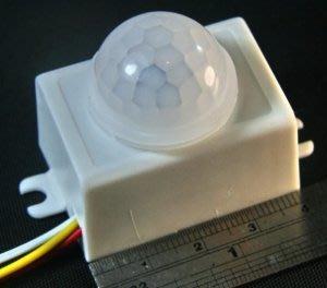 AC 110~220V 廣角大鏡頭 迷你 PIR 人體紅外線感應開關 _ 3線式 45W鎢絲燈 25W:螢光燈/LED