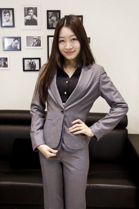 【10092】職業男女OFFICE ☆ STAR 高雅OL單釦灰色長袖外套