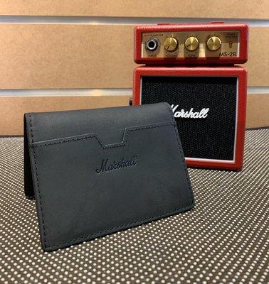【名人樂器】Marshall Suedehead Black 麂皮 輕巧 直式皮夾