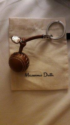 ZARA旗下高級品牌Massimo ditto 100%全牛皮鑰匙圈 棒球造型 西班牙