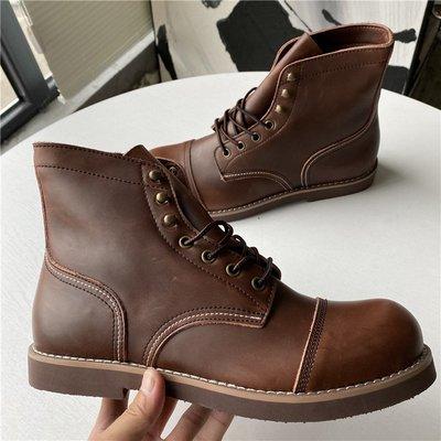 耐奧專櫃 大愛的8111傘兵靴!瘋馬牛皮養靴!秋冬硬漢風高幫真皮男士馬丁靴 台北市