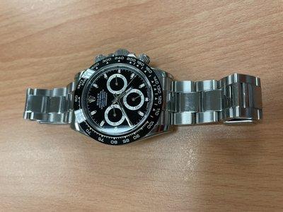 【已交流】ROLEX 勞力士 迪通拿 Daytona 116500LN 黑面 單錶 黑鋼迪 95新 非116520