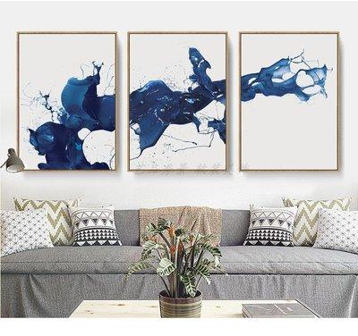現代新中式潑墨抽象藝術裝飾畫畫芯客廳餐...