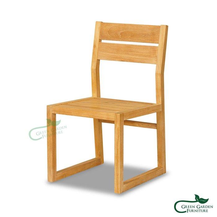 紐約 柚木餐椅(原色)【大綠地家具】100%印尼柚木實木/原色柚木/書房椅/歐風餐廳/絕版出清